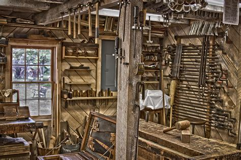 woodshop located   furnace town living heritage