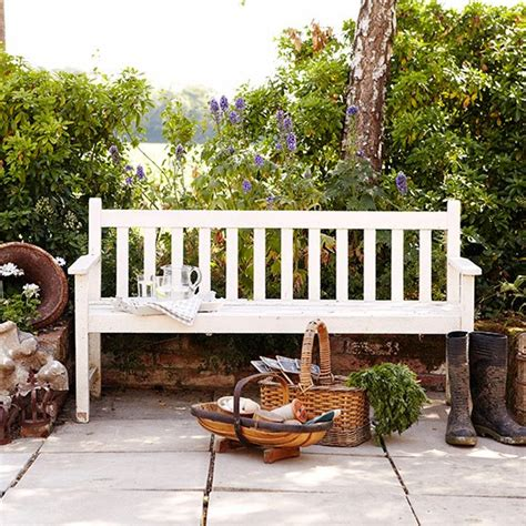 painted wooden garden benches uk traditional garden pictures house to home