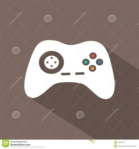 design icon game flat icon stock vector illustration of game joystick