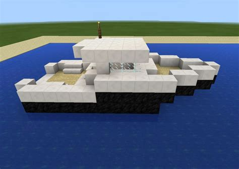 how to make a speed boat in minecraft pe minecraft speed boat minecraft creations pinterest