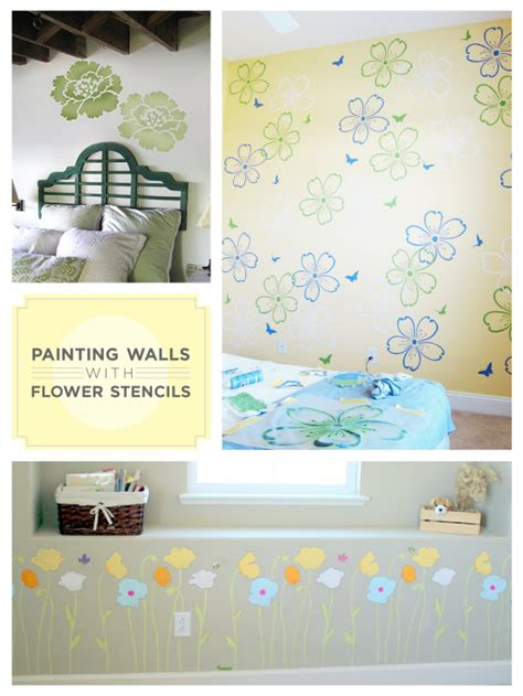 wall paint meaning flower stencils convey meanings on your walls stencil
