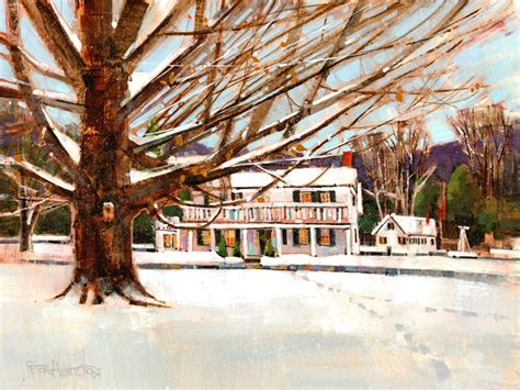 barrows house barrows house a painting by vermont artist peter huntoon