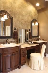 bathroom vanity with built in makeup station bathroom