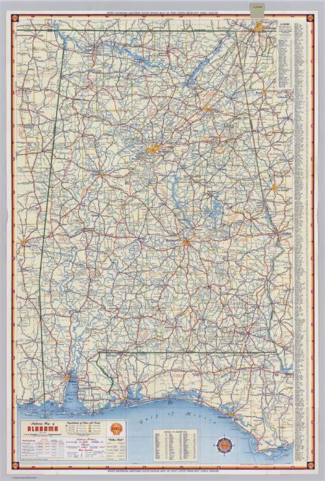 road map of alabama usa alabama county road map images
