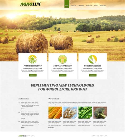 templates for agriculture website agriculture responsive joomla template 48672