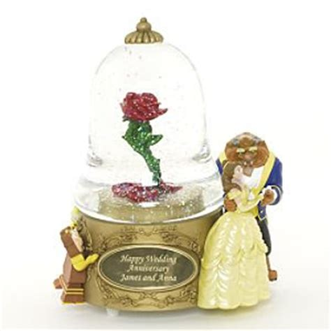 disney snowglobes collectors guide beauty and the beast