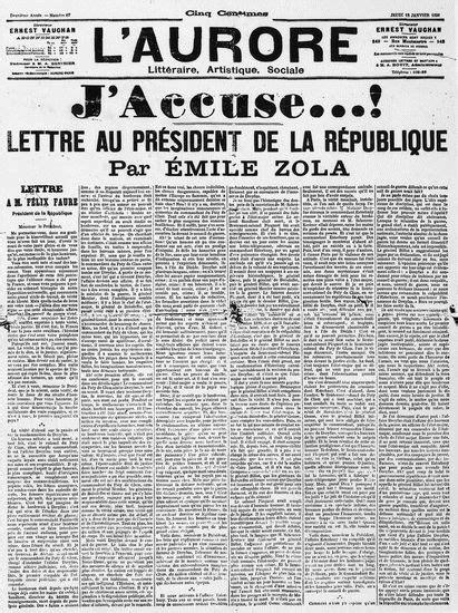 Encyclopédie Larousse en ligne - J'accuse