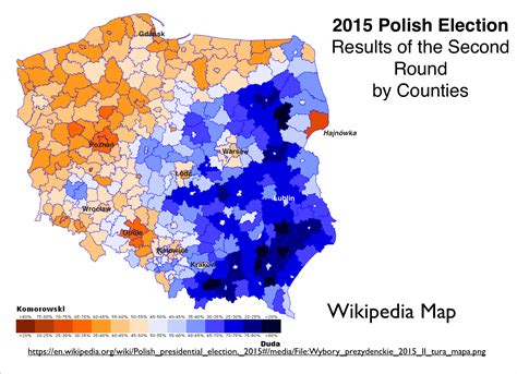 us election results 2015 map poland s stark electoral divide geocurrents