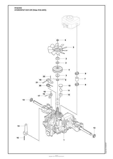 husqvarna   awd    parts diagram