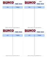 bunco punch card template bunco card template
