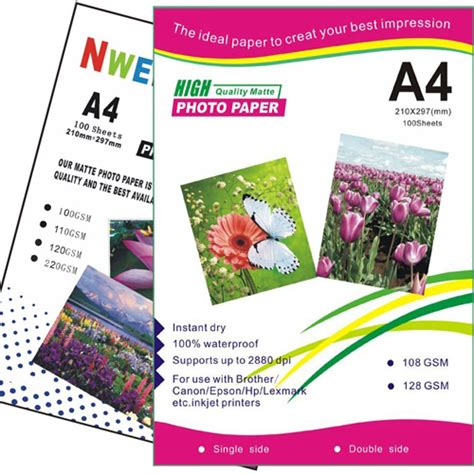 Matte Coated Card Paper 220g 50pcs paper company nwell paper photo paper