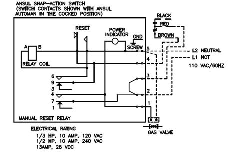 gas valve relay wiring diagram wiring diagram with
