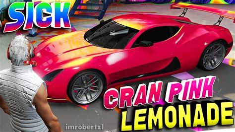 modded sports cars gta 5 best paint cran pink lemonade gta
