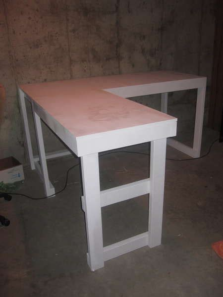 diy corner desk with file cabinets woodworking projects