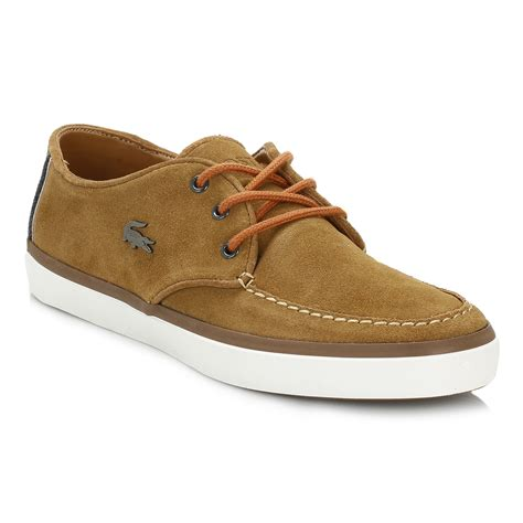Sepatu Casual Lacoste Freed Suede Leather 100 Import 1 Lacoste Mens Brown Sevrin 2 Lcr Suede Shoes Lace Up