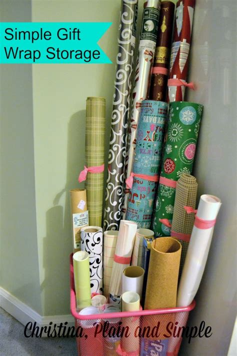 How To Wrap A For Storage by Gift Wrap Storage Ideas The Message In The Mess