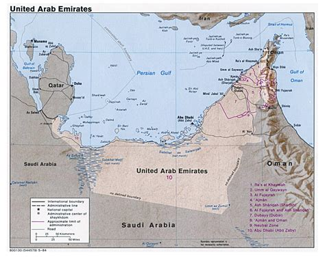 uae political map detailed political map of uae united arab emirates