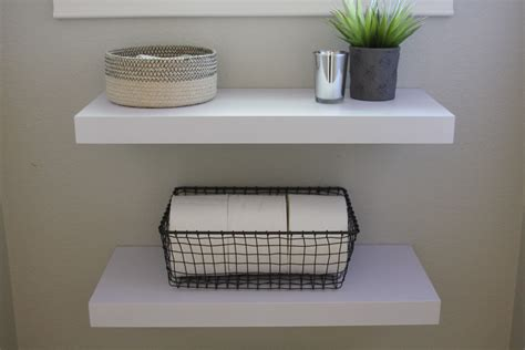 Floating Shelves With Wire Simple Diy Floating Shelves In The Bathroom Simply