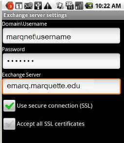 Marquette It Help Desk by Android Phone Setup For Emarq
