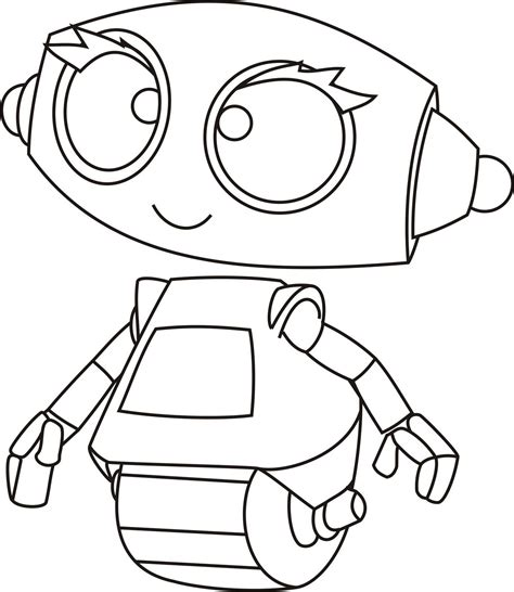 coloring page robot simple robot coloring page for kids robot colouring