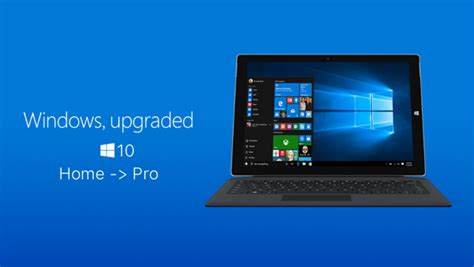 fix for upgrading from windows 10 home to windows 10 pro