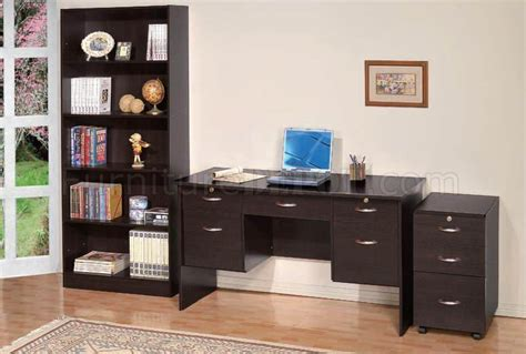espresso desk with drawers espresso finish modern writing desk w 5 drawers optional
