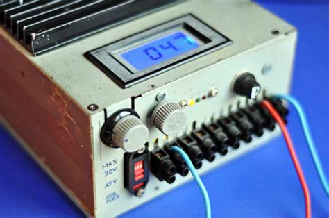 variable bench power supply with lcd and monitor display variable regulated power supply pocketmagic