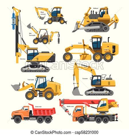 excavator  construction vector digger  bulldozer