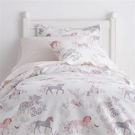 unicorn bedding enchanted unicorn percale sheets bedding set the