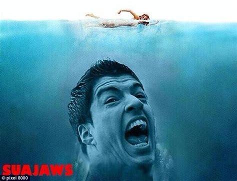 Luis Suarez Meme - luis suarez parodied as jaws dracula and hannibal as
