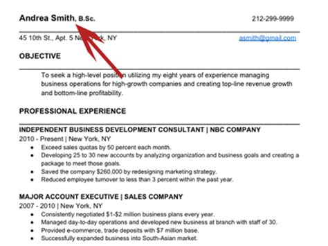 Can You Put Mba After Your Name With Sartly by How To Write The Resume Business Insider