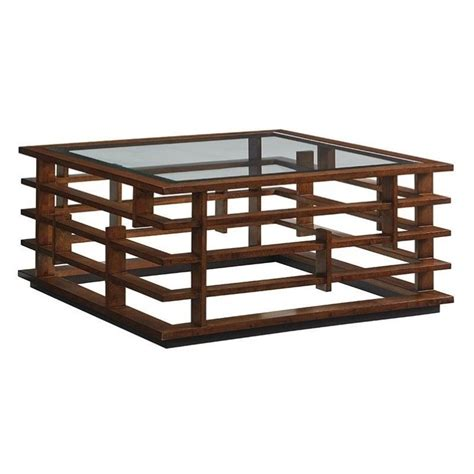 Tommy Bahama Island Fusion Nobu Square Glass Coffee Table | tommy bahama island fusion nobu square glass coffee table