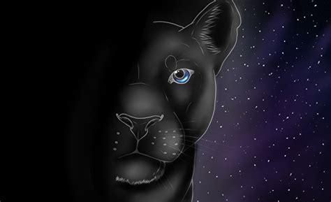fondos de pantalla grandes felinos pantera negra dibujado
