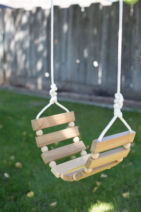 diy outdoor swing diy tree swing for kids adults