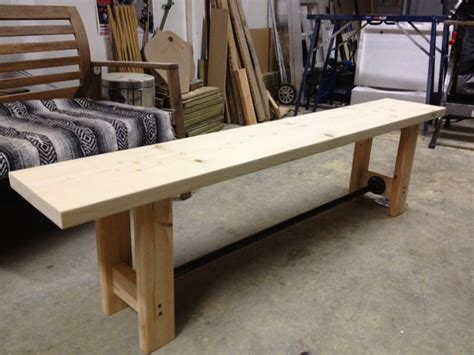 diy wood bench diy pipe wood bench storefront life
