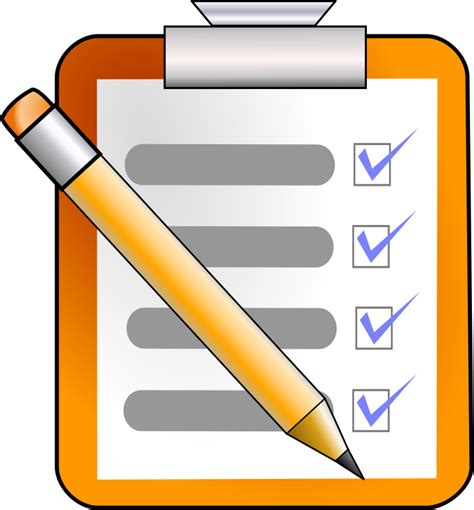 list clipart checklist clipart