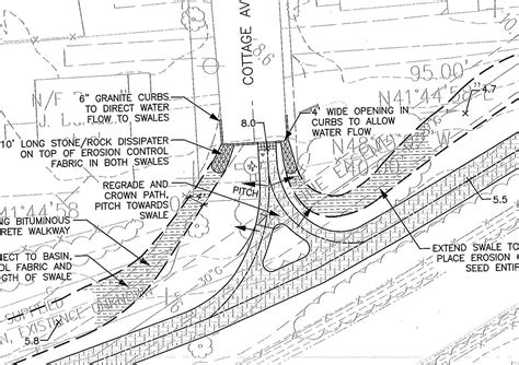 drainage section drawing drainage plan the word on the street