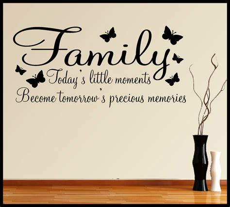words for the wall home decor family wall sticker quote inspirational words phrases