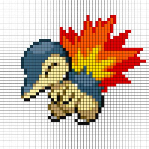 perler bead template cyndaquil perler bead pattern bead sprites characters