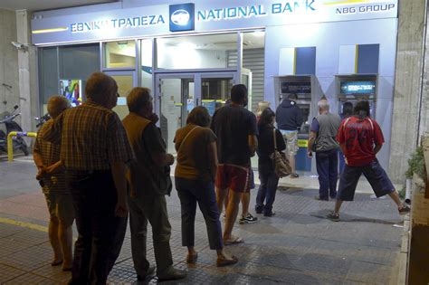 banks in greece pm closes banks to withdrawal frenzy pbs