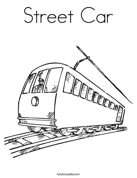 Street Cars Coloring Pages | trolley coloring pages