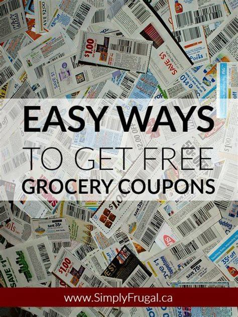 free online printable grocery coupons canada 5 easy ways to get free grocery coupons http www