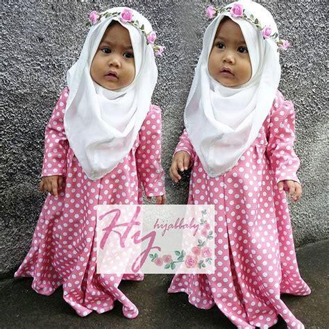 Baju Muslim Bayi Perempuan Gamis Bayi Desy gamis bayi lucu polkadot bahan import free mahkota bunga