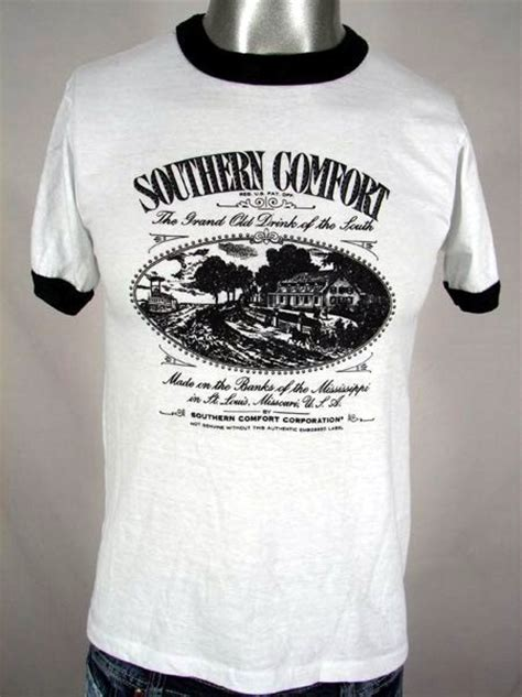 southern comfort t shirt great 80s southern comfort booze ringer t shirt m