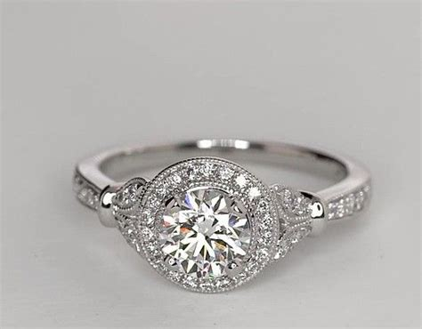 Tacori Engagement Rings Gold Floral Halo Setting by 0 91 Carat Lhuillier Vintage Floral Halo