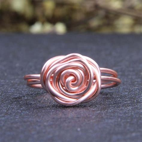 gold wire rings flower wrapped rings gold fashion ring three materials customized wedding ring wire
