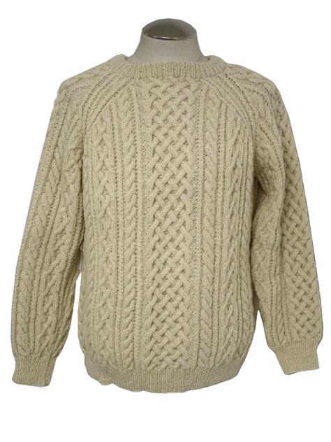 Sweater Wool Eighties Vintage Sweater 80s Missing Label Mens