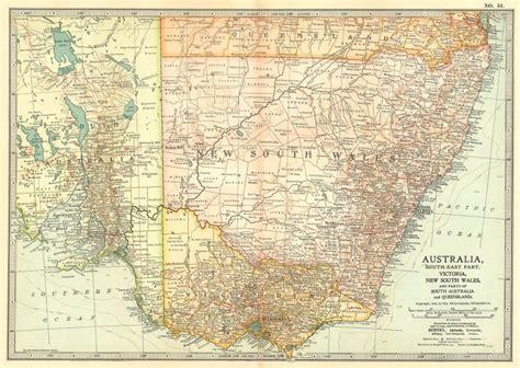 south eastern australia map south east australia new south wales south