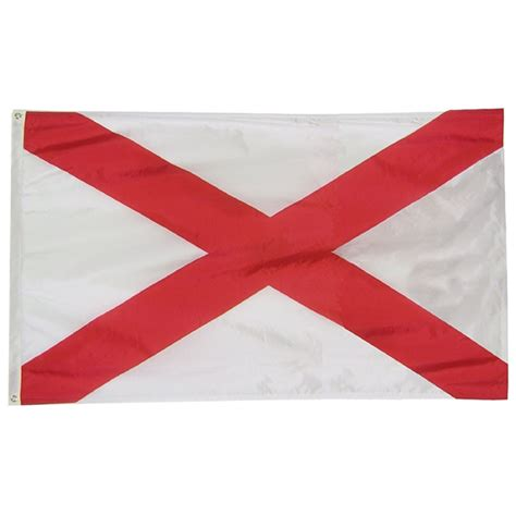 polyester alabama state flag 3x5 state flags collins flags