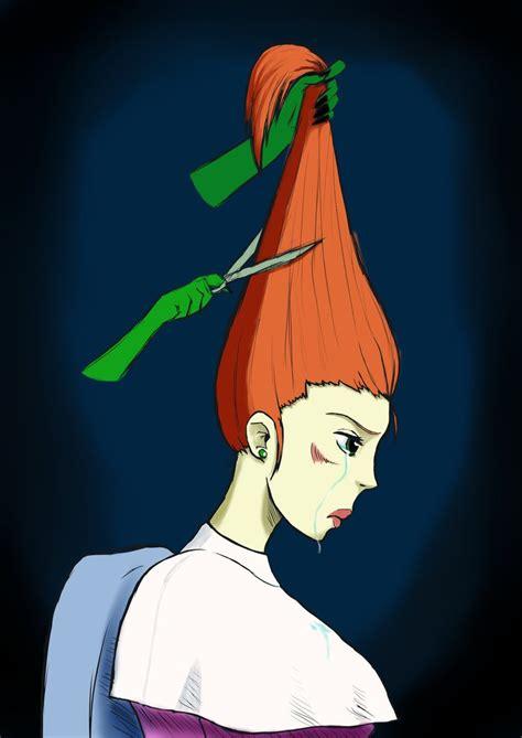 gets by modern rapunzel gets a haircut by danielwartist on deviantart